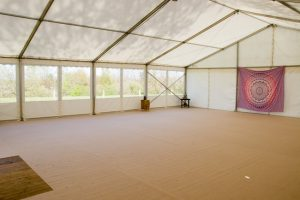 salle de yoga nature